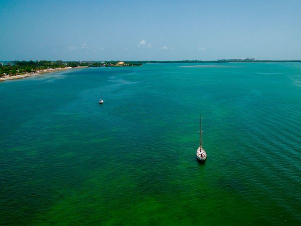 Florida living Water Sea Nautical Vessel Scenics - Nature Travel Nature Beauty In Nature Tranquil Scene Tranquility Transportation Travel Destinations Turquoise Colored Land Mode Of Transportation Blue Holiday Tourism Day Vacations No People