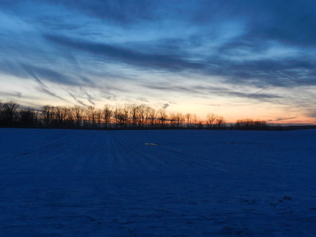 Fading Light Blue Cloud - Sky Cold Temperature Field Landscape No People Outdoors Scenics Season  Snow Snow Covered Winter Fieldscape Wintertime Michigan Rural Rural Scene Empty Barron Land Cold Flat Cloudy Day Clouds White The Great Outdoors - 2016 EyeEm Awards