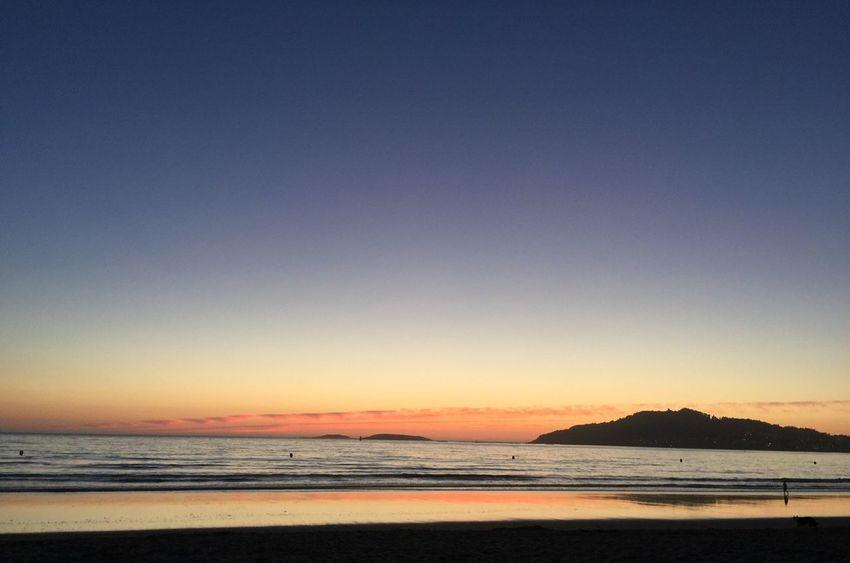 Sea Beach Scenics Tranquil Scene Tranquility Water Sunset