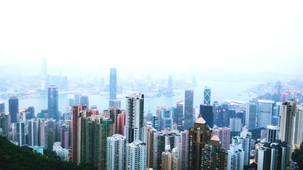 soaring to the sky (April, 2018- Hong Kong) EyeEm Selects City Cityscape Urban Skyline Modern Skyscraper Aerial View Downtown District Financial District  Business High Angle View