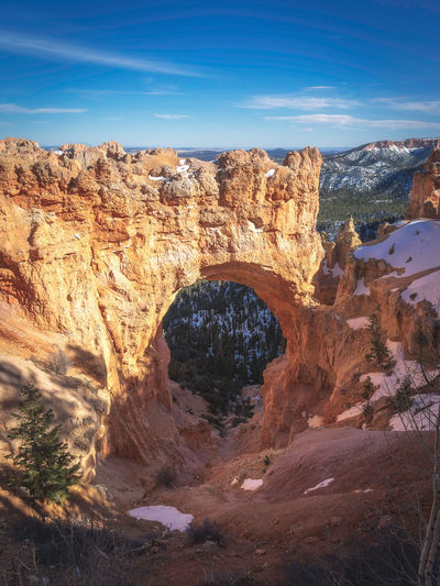 Bryce canyon national park, Utah, USA National Park Nature Trees Utah Arch Beauty In Nature Bryce Canyon National Park Day Environment Eroded Formation Landscape No People Outdoors Rock Rock - Object Rock Formation Scenics - Nature Sky Tranquil Scene