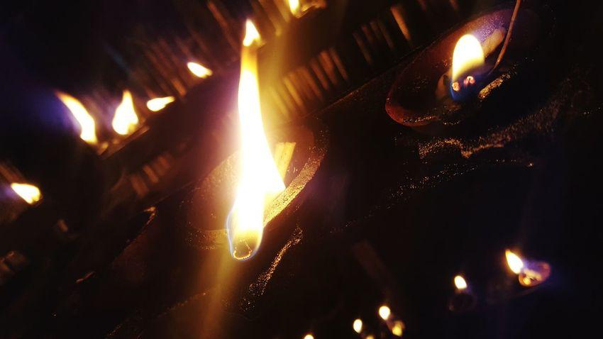 Flame Heat - Temperature Diwali Close-up