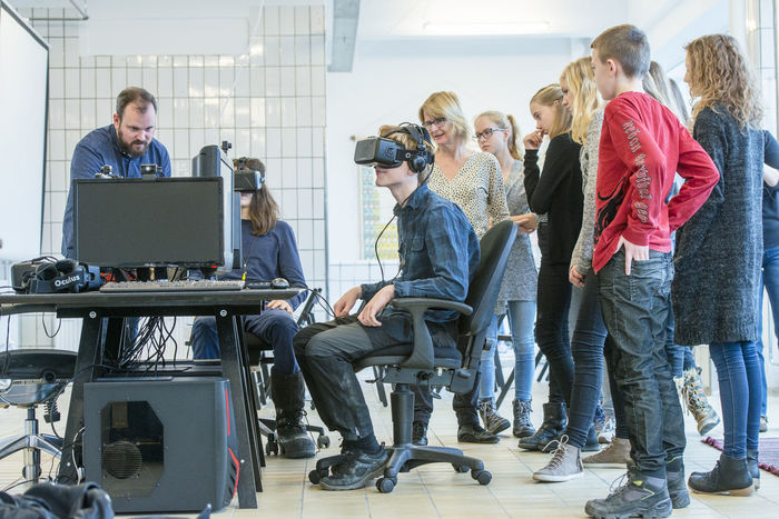 Copenhagen, Denmark. 5th February, 2016. Khora is a pop-up space in the meatpacking district of Copenhagen, where people can walk in and try different levels of virtual reality. Schools will be able to come in on field trips, companies can come in to see what is possible with VR. VR enthusiasts will be able to come in and collaborate with fellow content creators. Their goal is to create an environment where ideas about virtual reality can develop and come to life.