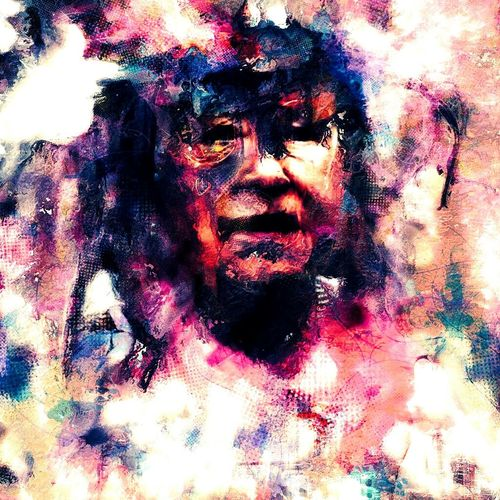 """The grand mother's lines"" Guirlande The Grandmother One Person Abstract Surreal Multi Colored People Adults Only Young Adult"