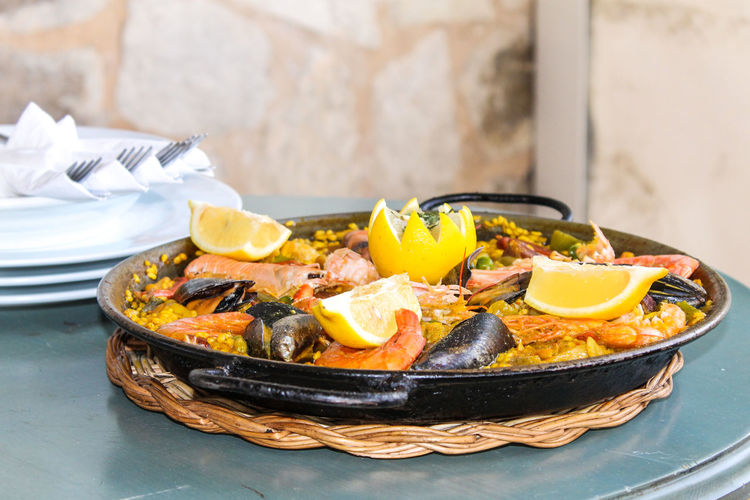 Paella Palma De Mallorca Rice SPAIN Close-up Food Food And Drink Kitchen Utensil Passion For Food Plate Ready-to-eat Sea Fruits Spain Food Still Life Table Typical Dutch The Still Life Photographer - 2018 EyeEm Awards
