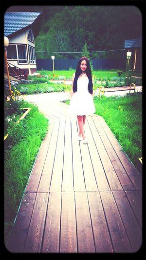 White Dress Long Hair Beauty Beautiful Girl