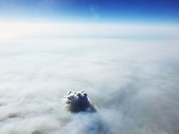 Over the clouds. Nature No People Scenics Aerial View Outdoors Day Beauty In Nature Sky Tranquil Scene Airplane Tranquility Water Iceberg Cloud - Sky Travel The Way Forward Sunlight Clear Sky Beauty In Nature Nature EyeEm Selects