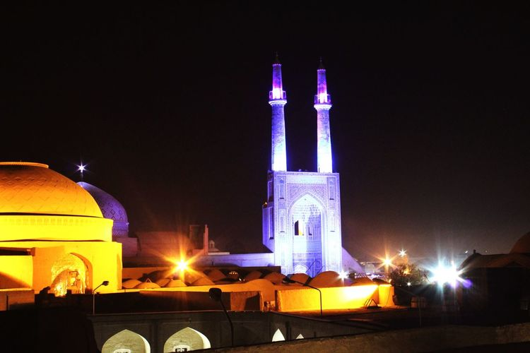 Iran Iran♥ Irantravel Mosque Moschee Cities At Night Worldtraveler Stadt Bei Nacht Yazd Yazd Iran Blue Mosque Blaue Moschee Travel Photography WorldTrip