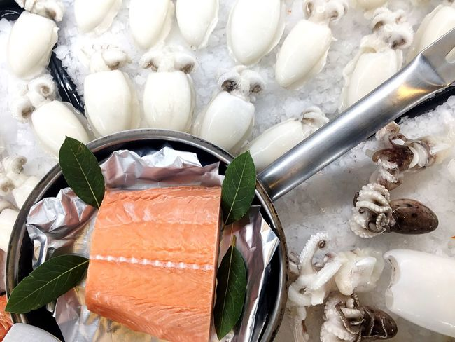 Fresh fish Food And Drink Freshness Cold Temperature Salmone Fish Food