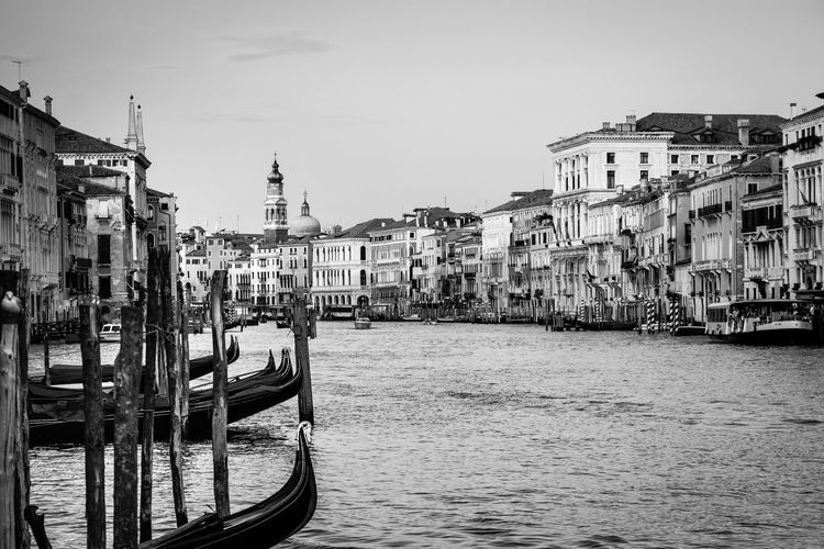A day at Venice. Architecture Blackandwhite Photography Built Structure Canal Canale Grande Europe Europe Trip European Union Italy Kanal Lagune Mare Thomas Mann Tod In Venedig Tourism Tourismus Tourismusziel Tourist Attraction  Tourist Destination Tourist Spot Venedig Venedig Gondeln Venice, Italy