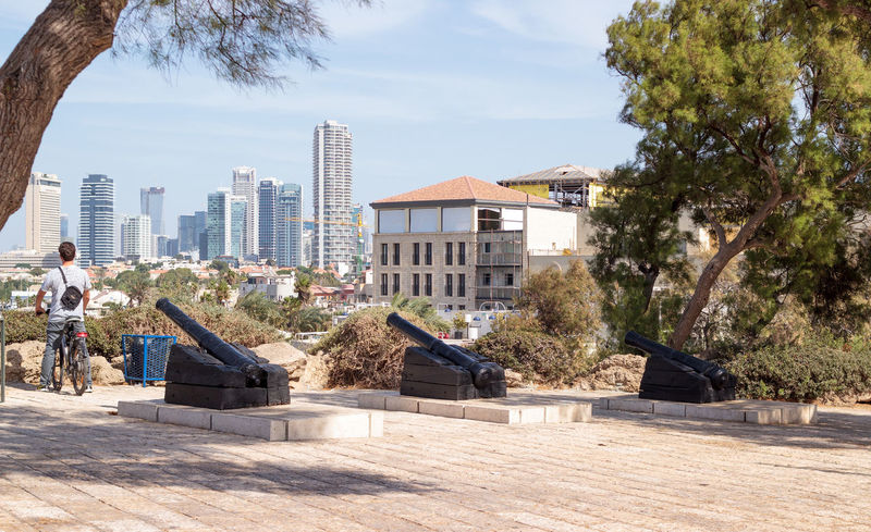 Yafo, Israel, October 15, 2016: Antique cannon in old city Yafo, Israel Ancient Antique Army Artillery Cannon Castle City Day Defense Fort Fortress Gun History Israel Jaffa Medieval Metal Military Old Outdoors Tourist Town War Weapon Yafo
