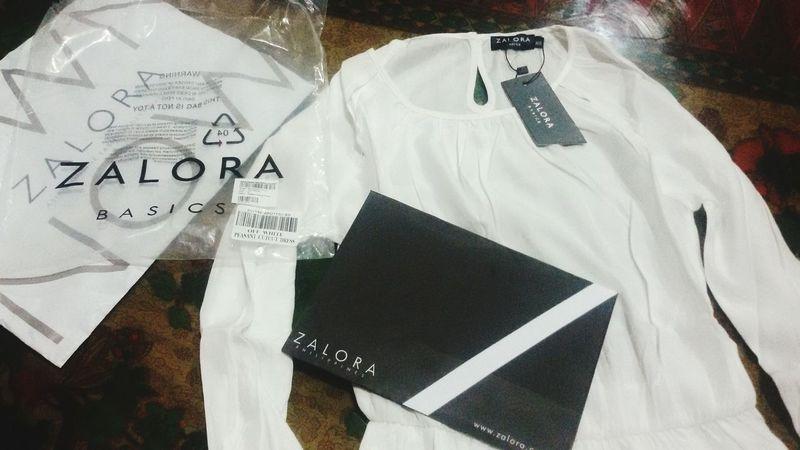 My first online purchase 😃👗◽▫◻ Whitedress Zalora ZaloraPH Onlineshopping