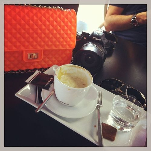 Plastic Bag Fluo  Neon Breakfast Altea Comunidadvalenciana SPAIN Capouccino Nespresso Reflex Summer with MY Husband Love