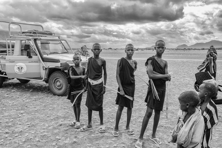Warriors in training Africa African Tribes Masaai Steppes Tanzania Young Warriors