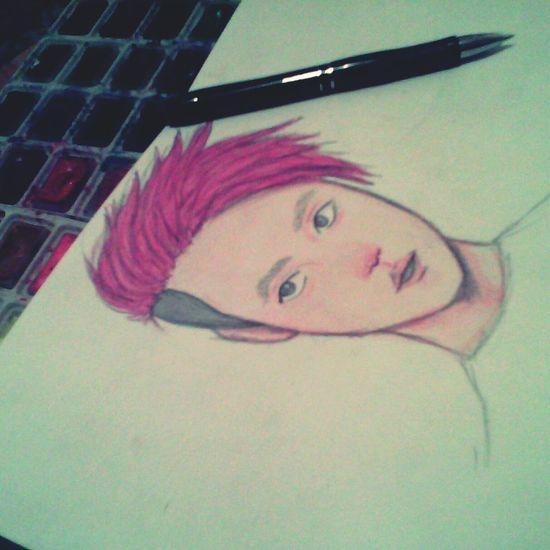 Art Drawing Exo_k Watercolor