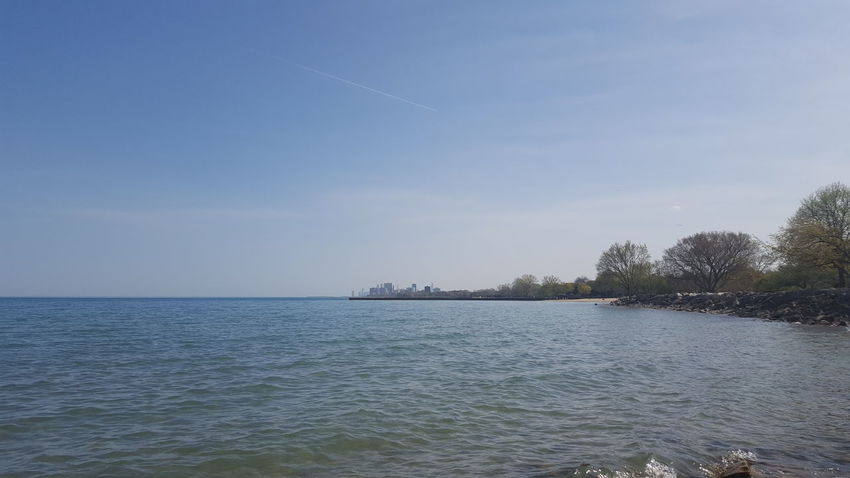 Blue Color Land Water And Sky Beauty In Nature Horizon Over Water Lakeshore Scenics - Nature Tranquility Trees By The Lake Waterfront