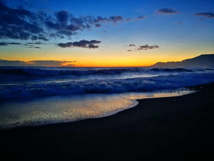 Sunset_collection Liguria,Italy Vallecrosia Liguria_super_pics Liguria_bestsunset Sunset Landscape Reflection Beach Scenics Sea Sky Nature Blue Horizon Over Water Beauty In Nature Cloud - Sky Tranquility No People Water