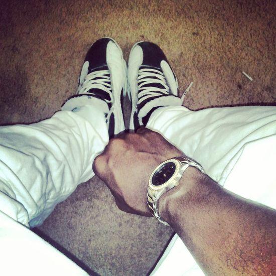 White Kotd Jordans On My Feet  Rollies(;