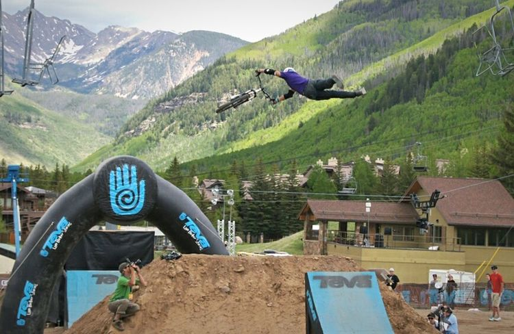 Flying High Fly Away High Jump Trail Ride Trail Bikes Bmx  Dirtbike Competition Vail Colorado EyeEm Sports Extreme Sports Extremesport