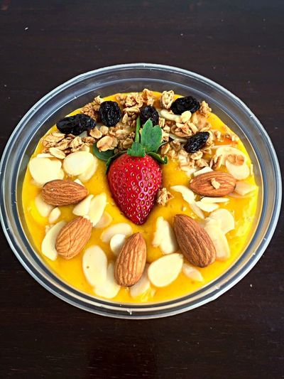 Manggo smoothies 👌🏻 Healthy Eating Food Food And Drink Freshness Fruit Ready-to-eat Bowl SLICE No People Breakfast Serving Size Table Indoors  Close-up Day