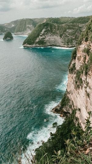 High angle view of sea