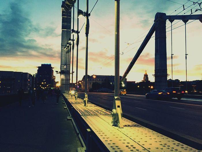 Night Sunset Moscow City Bridges Bridge Eye4photography  EyeEm Best Shots EyeEm Best Edits EyeEm Gallery