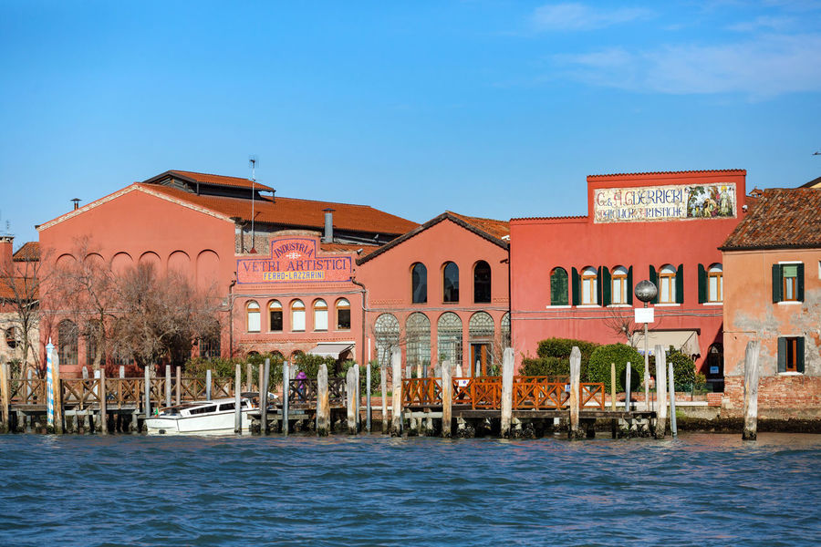 Murano Architecture Blue Building Exterior Built Structure Clear Sky Day Glass Factory Nature No People Outdoors Sky Travel Destinations Water Waterfront