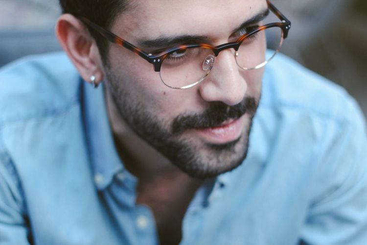 Men Eyeglasses  Beard Close-up Portrait Glasses