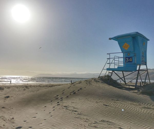 Lifeguard on Duty. Lifeguard Tower Lifeguard  Lifeguard Station Pismo Beach Coastal California PISMO BEACH HEAVEN 🇺🇸 Pacific Ocean Sandy Beach Footprints In The Sand Ocean Shore Solitude Peace And Quiet Eyem Collection