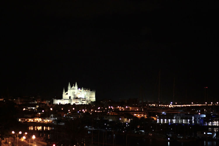 Architecture Cities At Night City Cityscape Dark Glowing Illuminated Light Night No People Outdoors Palma De Mallorca Sky Travel Destinations