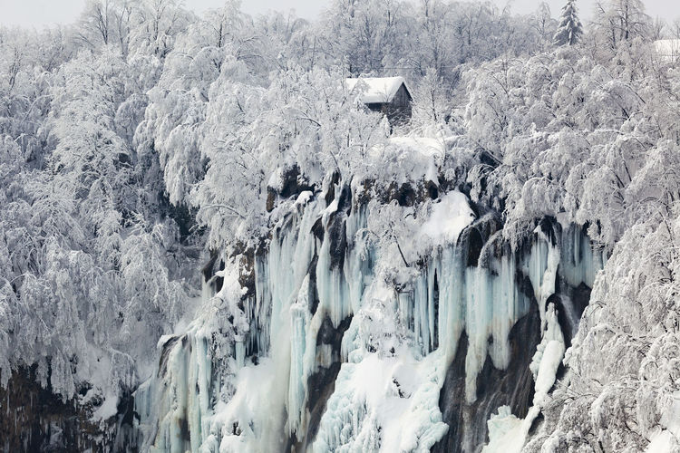 Panoramic view of snow covered landscape