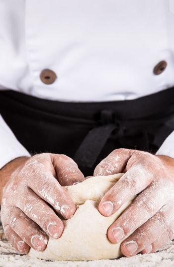 Close-up of woman preparing food