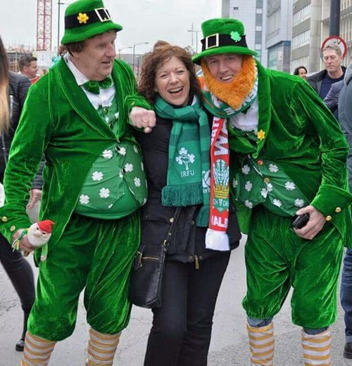 St Patrick's Day Happy St. Patricks Day Taking Photos At The Rugby Wales V Ireland Rugby Fans Leprechaun In The Crowd