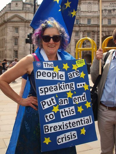 March For The Peoples vote. Whitehall. London. 23/06/2018 Stevesevilempire Steve Merrick Protest Whitehall Protesters London London News Europe Remainers Remain British Politics Politics And Government Brexit Brexit Protest Sunglasses Text Fashion Architecture Glasses Adult Men
