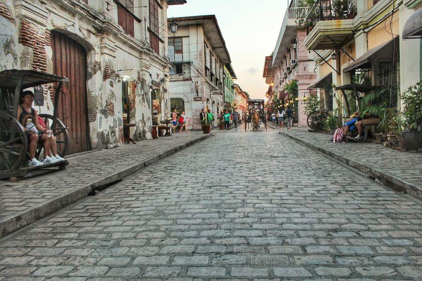 Architecture Street Cobblestone Outdoors Travel Destinations Old Town Built Structure Philippines Vigan, Ilocos Sur
