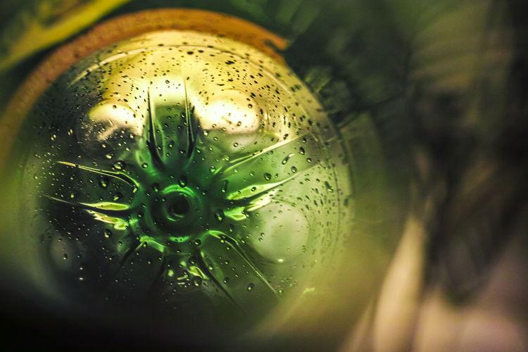 Inside a green