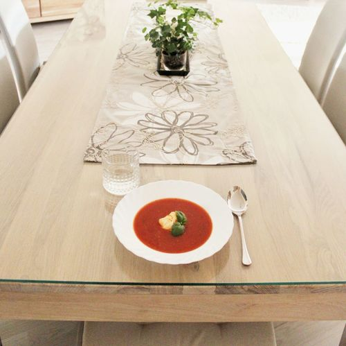 Food Stories Dinner Soup Tomato Soup Table Dining Table Dining Room Eating Alone Eating Alone Food Eating Healthy Bright Clean Table Clean