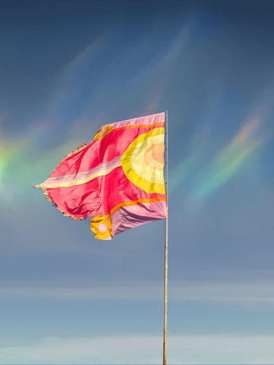 WOMAD Cloud - Sky Day Flag Flags Multi Colored Nature No People Outdoors Patriotism Sky