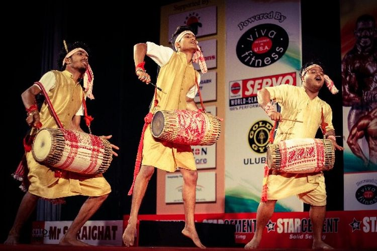 Traditional dance of assam BIHU Archival Adults Only People Indoors  Performing Arts Event Men Adult