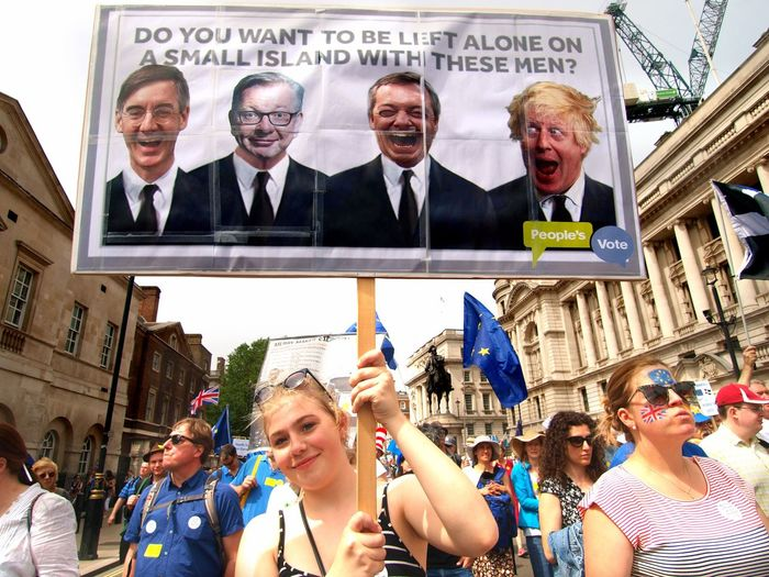 March For The Peoples vote. Whitehall. London. 23/06/2018 Remain Remainers Europe Brexit Brexit Protest British Politics Politics And Government Protest London Whitehall Protesters London News Steve Merrick Stevesevilempire Adult Men Group Of People Women Glasses Architecture Males