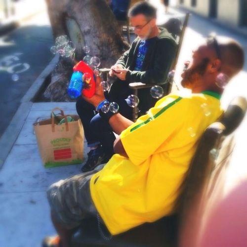 Bubble Gun Taking Photos IPhone5 Relaxing