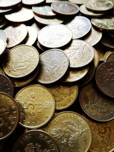 Coin Currency Finance Wealth Abundance Metal Full Frame Money Financial Item No People Savings Variation Kuna Croatian Kuna