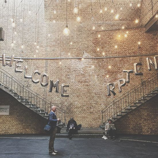 Welcome to RpTEN - Participants at Re:publica , Germany s famous Conference about Digital Society . Architecture Steps Steps And Staircases Lights Balloons