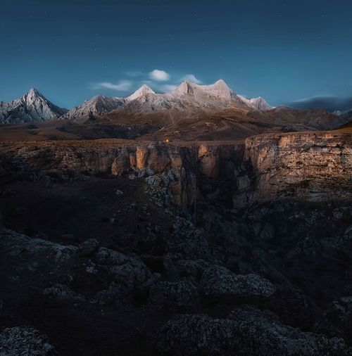 Anti Taurus Mountains Mountain Snow Sky Scenics - Nature Cold Temperature Environment Landscape Mountain Range Snowcapped Mountain Beauty In Nature Space Nature Star - Space Night Astronomy Mountain Peak Travel Destinations No People Space And Astronomy