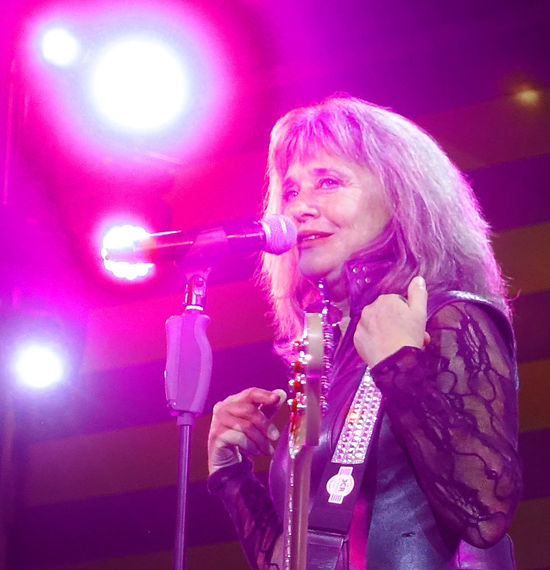 The awesome Suzi Quatro performing live to a huge audience on the MV Magellan cruise ship - Rock the Boat UK 2017 cruise 1960's Rock Group Base Guitar Devil Gate Drive Live On Stage Music Rock The Boat UK 2017 Suzi Quatro Arts Culture And Entertainment Awsome Performance Electric Guitar Guitar Holding Illuminated Leather Clothes Lighting Equipment Long Hair Microphone Modern Rock Music Musical Instrument Musician Night Nightclub Nightlife One Person Performance Portrait Real People Rock Legend Rock Music Rock Musician Singer  Singing Stage Lighting Standing Young Adult