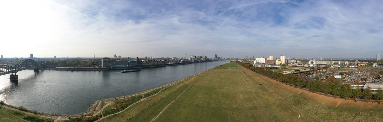 impressions from Rheinauhafen, Cologne Drone Photography Aerial View Skyline Modern Architecture River Daylight Sky And Clouds Ships Bridges Panoramic View