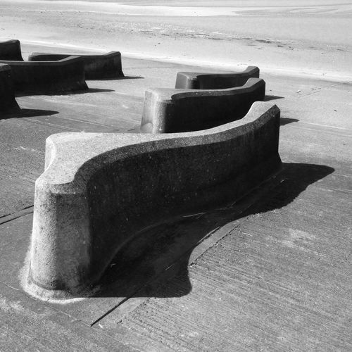 Time out after a photo shoot on the Wirral. Black & White Geometric Shapes Wirral Seashore