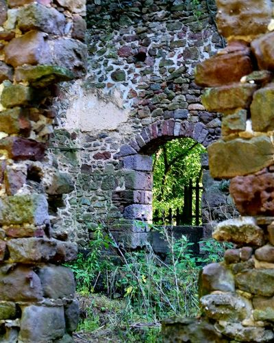 Ruins of The Beidler House in Gibraltar, PA Achitecture Made Of Stone Beautiful Stone Archway Overgrown Weeds Summertime Hot Summer Days Loving Nature's Beauty Eyeem Photography EyeEm Best Shots - Architecture No People Beauty In Nature Exploring Outside located on Old River Road in Gibraltar, Pennsylvania