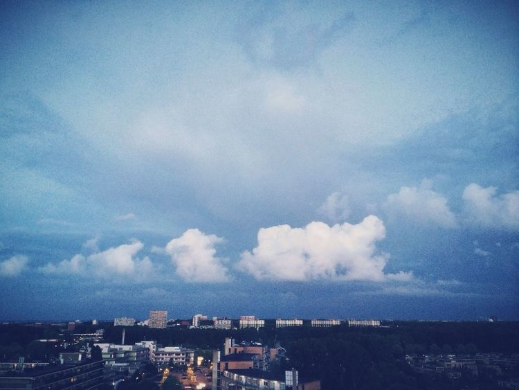 White clouds, just before the rain hit us. Clouds And Sky Amsterdam Balcony View Cityscapes