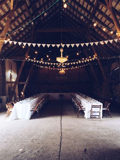 Ceiling Barn Shabby Chic Wedding Guests Indoors  No People Wood